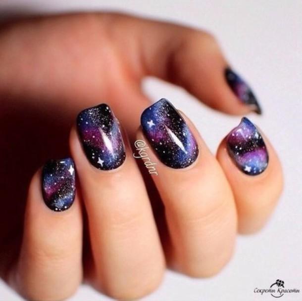 Science Nail Designs: Nail Polish, Space, Nails, Dark, Nail Art, Science, Stars