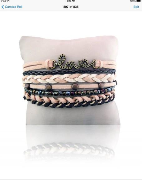 accessories jewels love bracelet bracelets