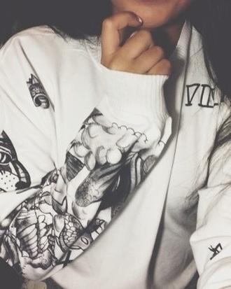 sweater justin bieber justin drew bieber tattoo oversized sweater winter sweater freshtops