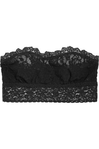 bra soft lace black underwear