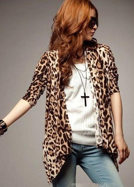Luxury Leopard Long Sleeve Cardigan Coat  on Luulla