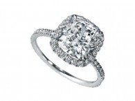 Liezel 1.8 ct cushion cut cz engagement ring