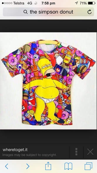 t-shirt fashion cartoon shirt style 90s style the simpsons homer simpson tacky