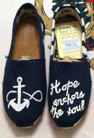 shoes toms anchor navy hope soul