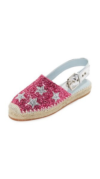 glitter espadrilles pink shoes