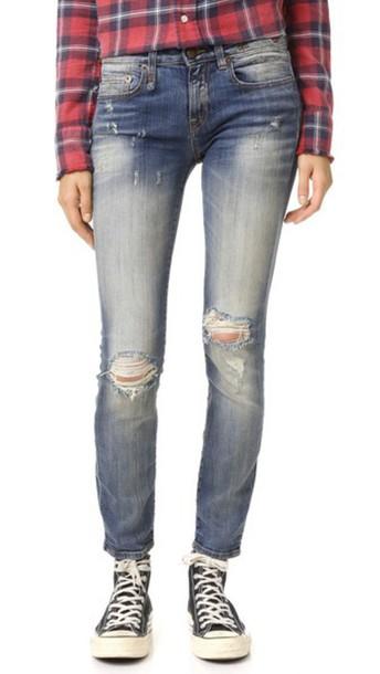 R13 Alison Crop Skinny Jeans - Enfield Wash