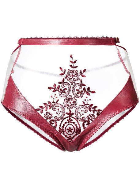 Loveday London high waisted high women red underwear