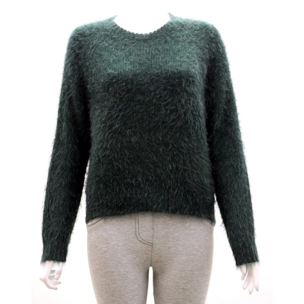 sweater green fluffy jumper winter outfits cozy tumblr