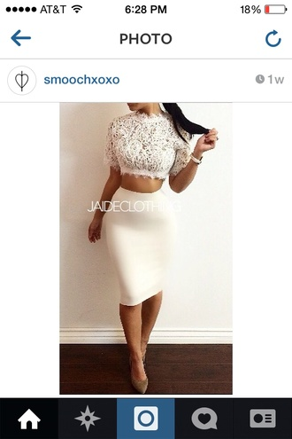 top crop tops cute crop top and skirt crop top and pencil skirt lace white pretty style