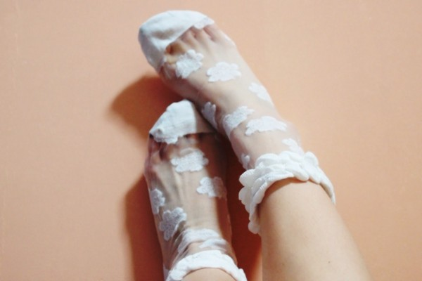 underwear white clouds socks sheer mesh transparent see through white socks mesh socks sheer socks