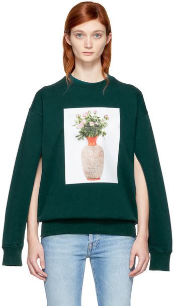 Ports 1961 sweatshirt flowers green sweater