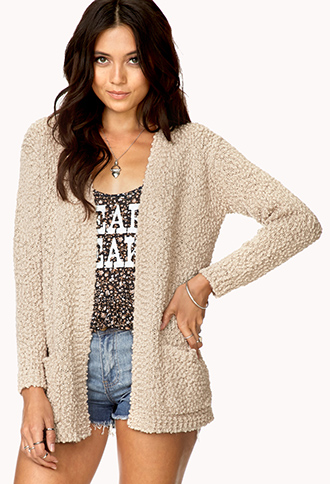 Cozy Marled Open-Front Cardigan | FOREVER21 - 2000111220