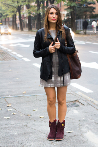 style and trouble blogger bag jacket ugg boots tartan leather jacket