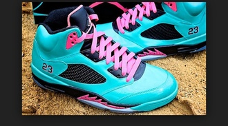 shoes blue shoes pink jordan shoes
