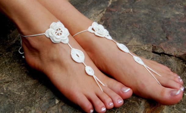 435b6a0366b shoes anklet beach wedding shoes nude shoes yoga socks crochet barefoot  sandals beach wedding sandal nude