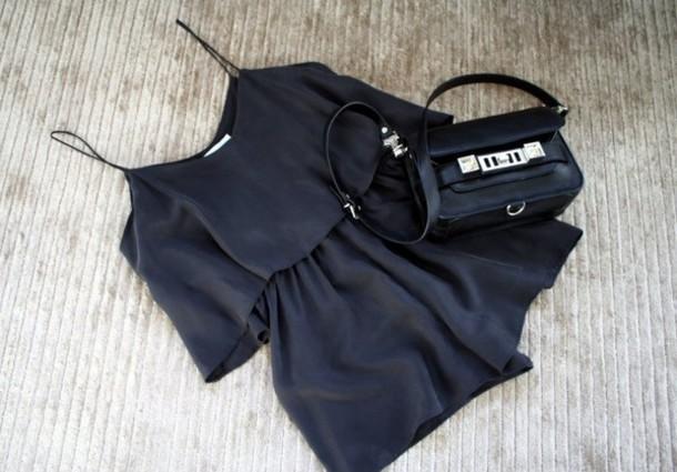 b25bb8b5b5d9 dress black dress summer shorts lovely love bag blouse romper ruffle black  silver tumblr jumpsuit romper