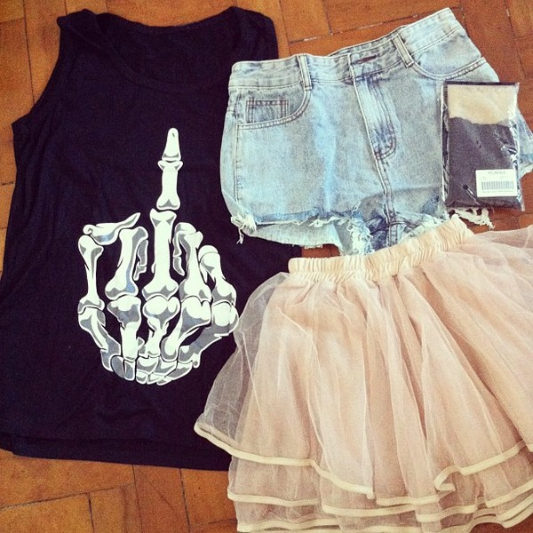 skirt romwe t-shirt romwe skirt romwe t-shirt shorts