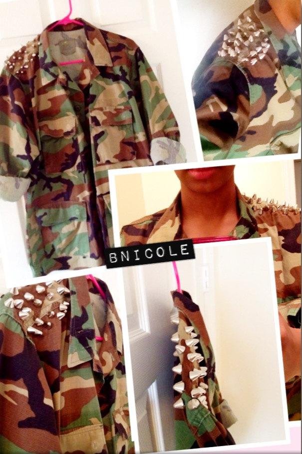Plain Army Fatigue Camo Camoflauge Jacket
