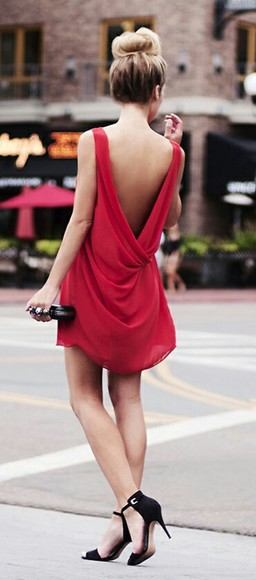backless dress red dress dress shoes