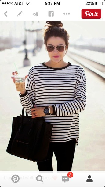shirt black and white stripes