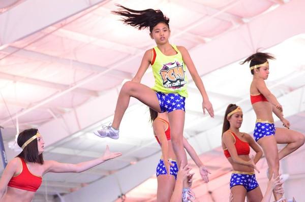 shorts wonder woman costume blue stars ivy league cheerleading spandex cheerleading