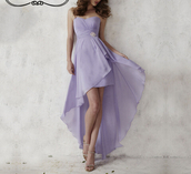 dress,chiffon dress,lavender dress,high low dress,bridesmaid,high low prom dresses
