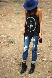 jeans,boyfriend jeans,shoes,tank top,marin style,shirt