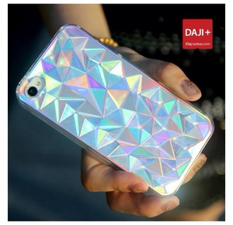 phone cover iphone 4 case holographic unicorn