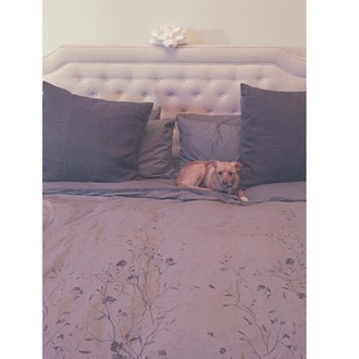 grey flowers blanket home decor bedding white cool ariana grande dog love home accessory arianagranderoom pretty purple