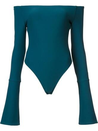bodysuit women spandex green underwear