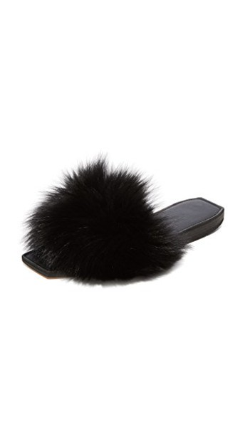 Parme Marin baby fur black shoes