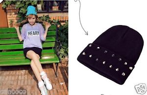 Unisex Hiphop Cap Beanie Warm Ski Knit Studded Winter Women Men Cool Hat Styles | eBay