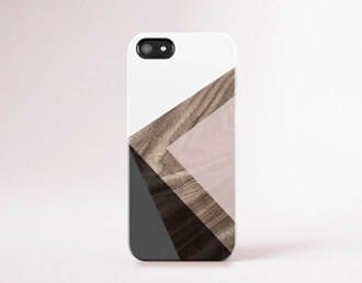 phone cover iphone 6 case iphone 5 case wood print geometric modern iphone case pantone color pastel pink