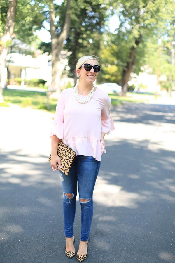 lemon stripes blogger top jeans jewels bag shoes