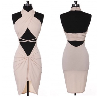 dress cut-out dress cross over dress bodycon dress