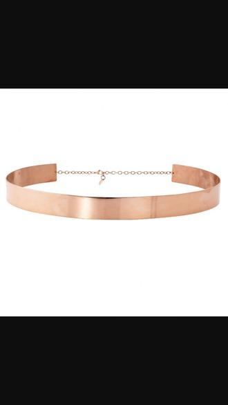belt rose gold metal rose gold metal
