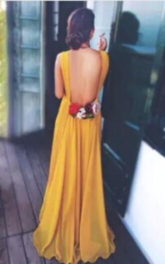 dress flowers yellow dress