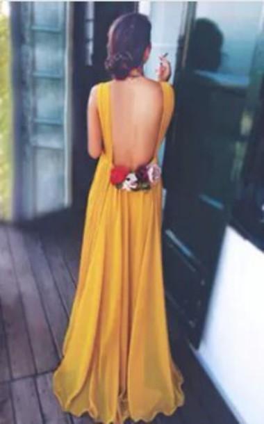 Dress flowers yellow dress wheretoget mightylinksfo