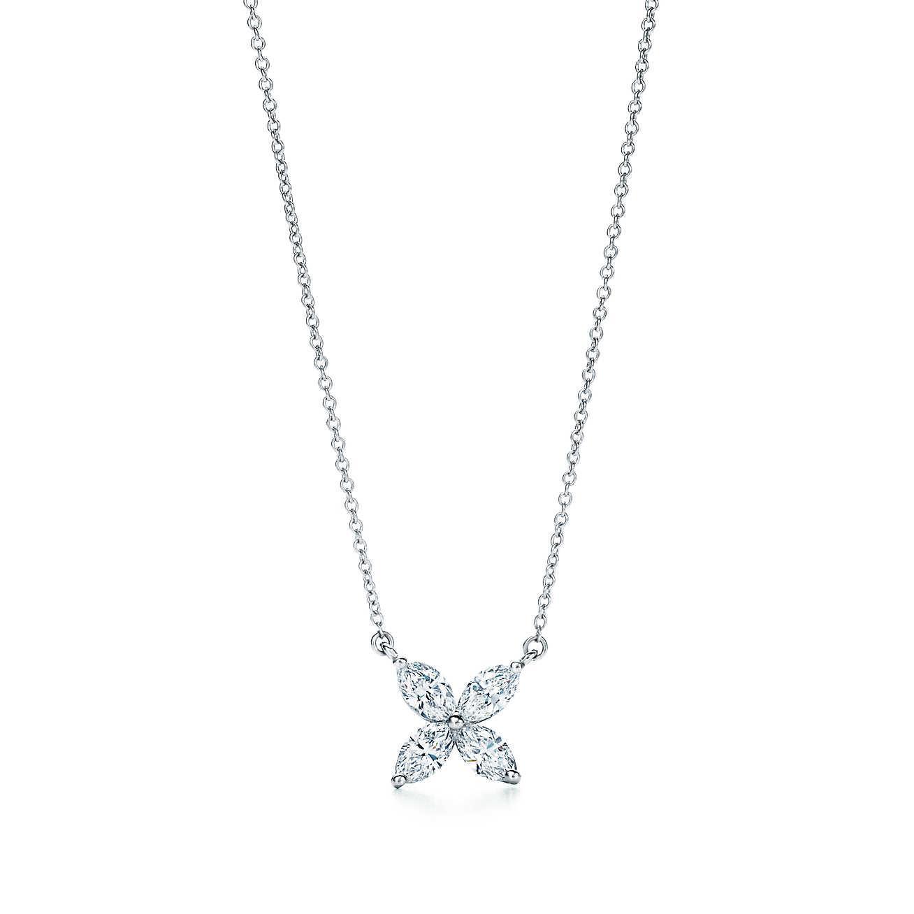 Tiffany Victoria® pendant in platinum with diamonds, large