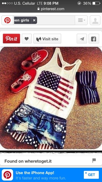 shorts short usa red lime sunday