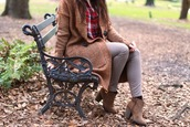 carly maddox,blogger,sweater,top,pants,shoes,fall outfits,cardigan,plaid shirt,ankle boots,camel cardigan