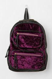 bag,velvet,purple,backpack,velvet backpack,alternative,dark,violet,pastel goth,pastel grunge