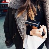 jacket,warm,winter¨,coat,fur,black,swede,fur lining