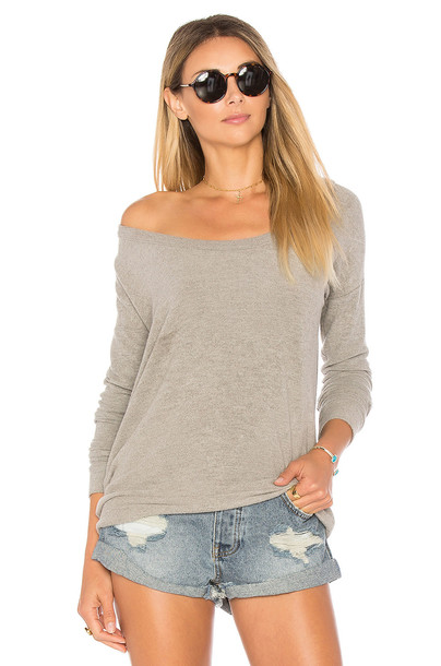 Chaser top back love draped knit