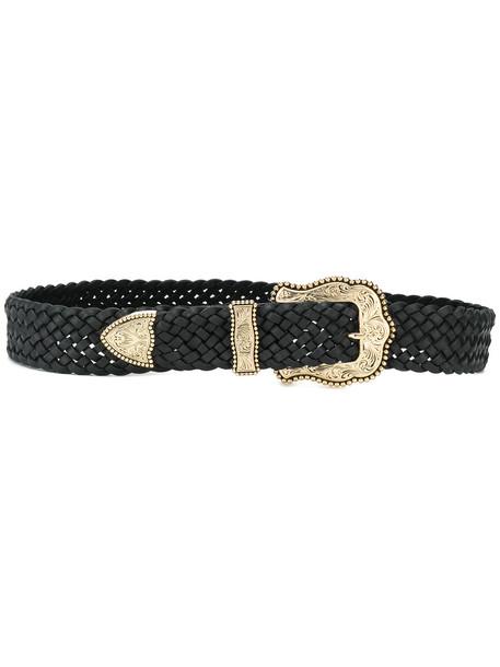 braid belt black