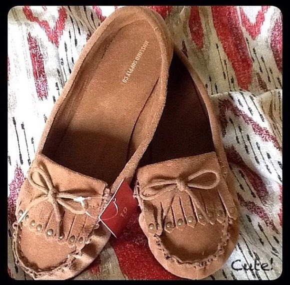 shoes ballerine marron native american india ethnic ethnique