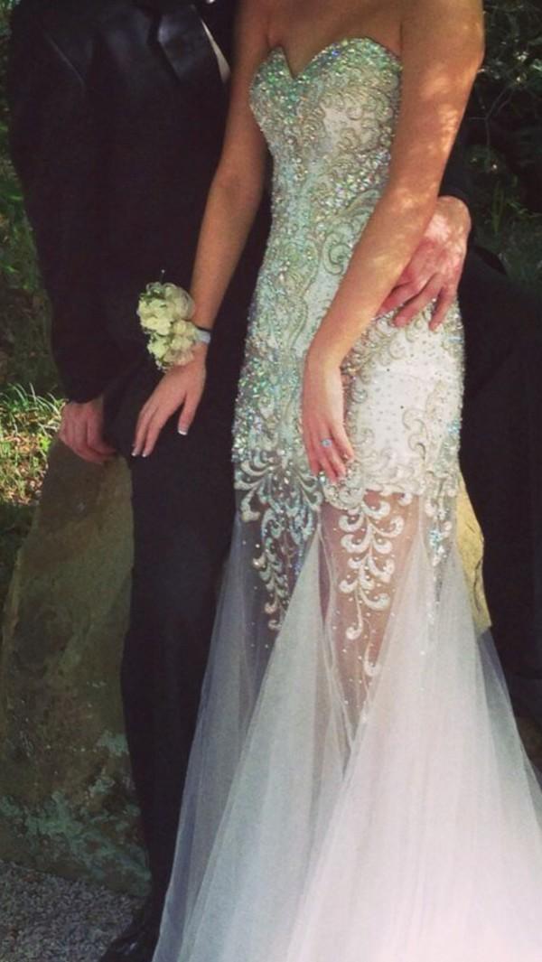 prom dress mermaid prom dress