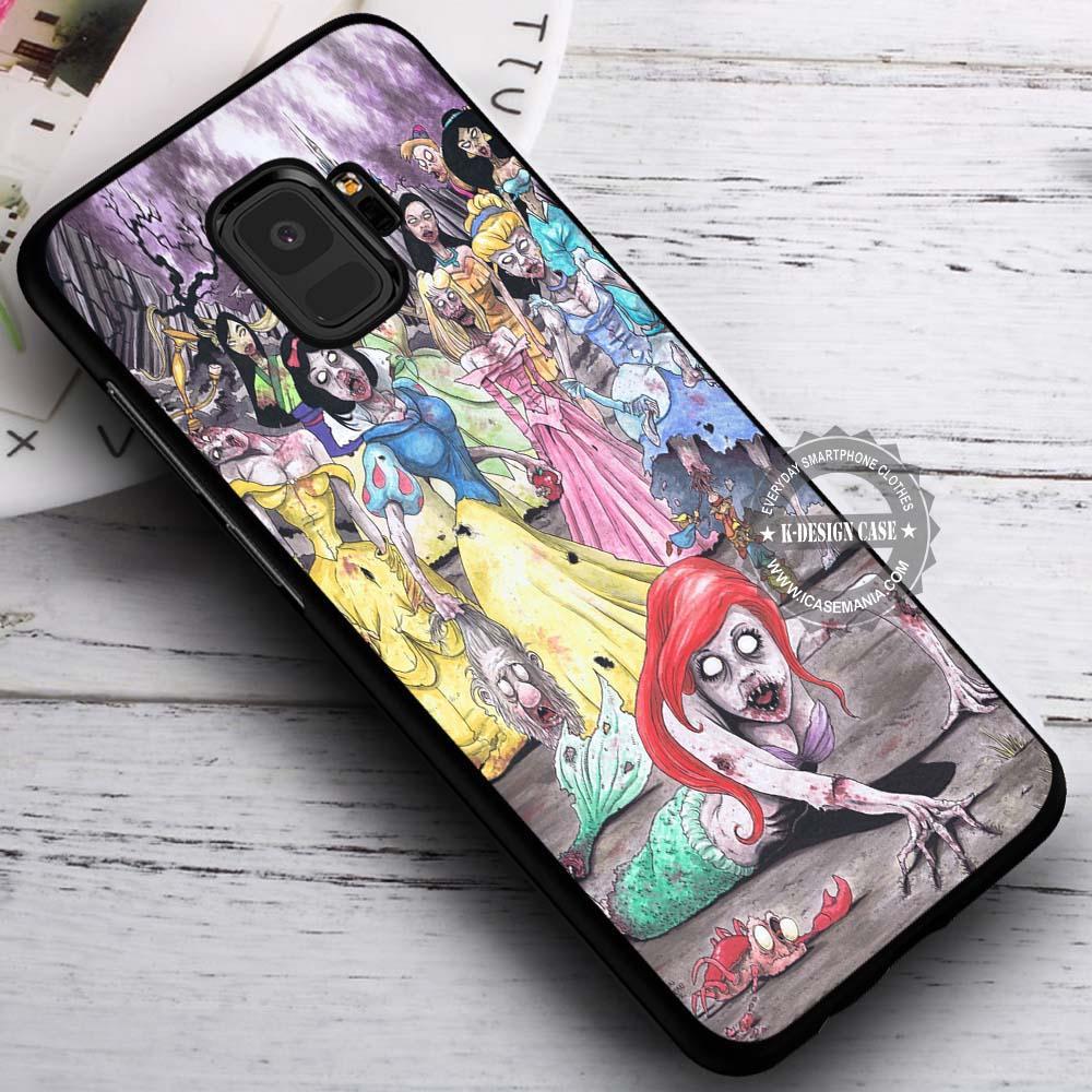 Zombies Disney Princess iPhone X 8 7 Plus 6s Cases Samsung Galaxy S9 S8 Plus S7 edge NOTE 8 Covers #SamsungS9 #iphoneX