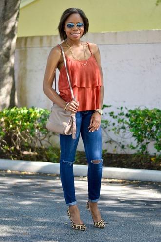 cha cha the fashion genius blogger shirt jeans shoes jewels bag sunglasses
