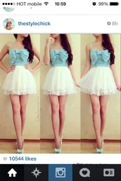 dress,maxi dress,white dress,sunglasses,skirt,blouse,shoes,lace,bow,demin,instagram,straps,beautiful,tank top,top,blue dress,ariana grande,bows,cute dress,girly,fashion,denim,denim shirt,chiffon,lace dress,white,blue shirt,brunette,wet seal,charrolette russ,forever 21
